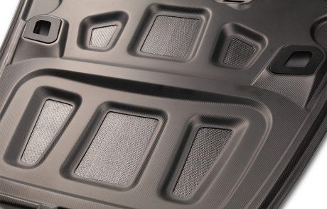Porsche Carbon Fiber Hood Closeup Bottom