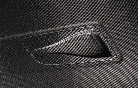 Porsche Carbon Fiber Hood Closeup Vents