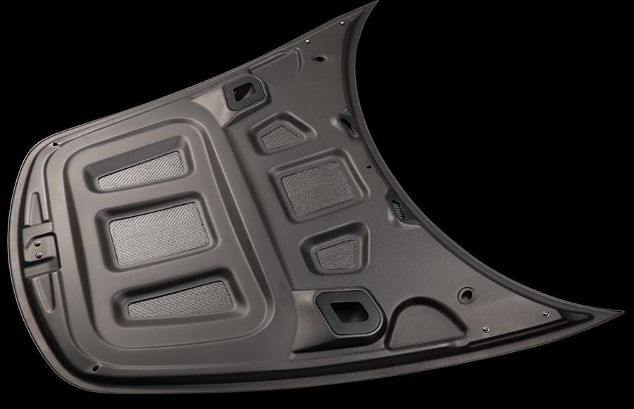 Apollo Aero Carbon Fiber Porsche Hood Bottom